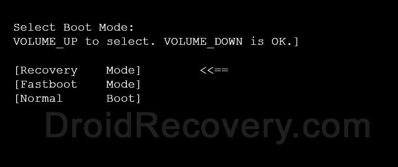 Jinga A400 Recovery Mode and Fastboot Mode