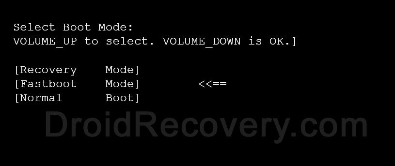 Tambo TA-4 Recovery Mode and Fastboot Mode