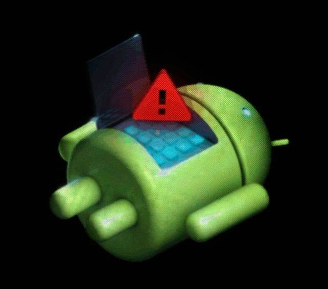 Android Bot Red Exclamation
