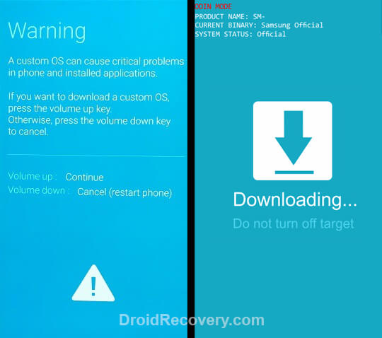 Samsung Galaxy Tab 10.1 LTE I905 Recovery Mode and Fastboot Mode