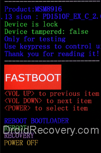 Vivo Z1 Youth Edition Recovery Mode and Fastboot Mode