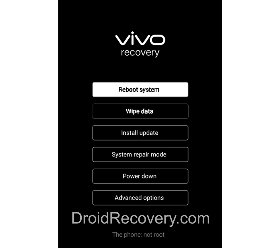 Vivo X5 Max F Recovery Mode and Fastboot Mode