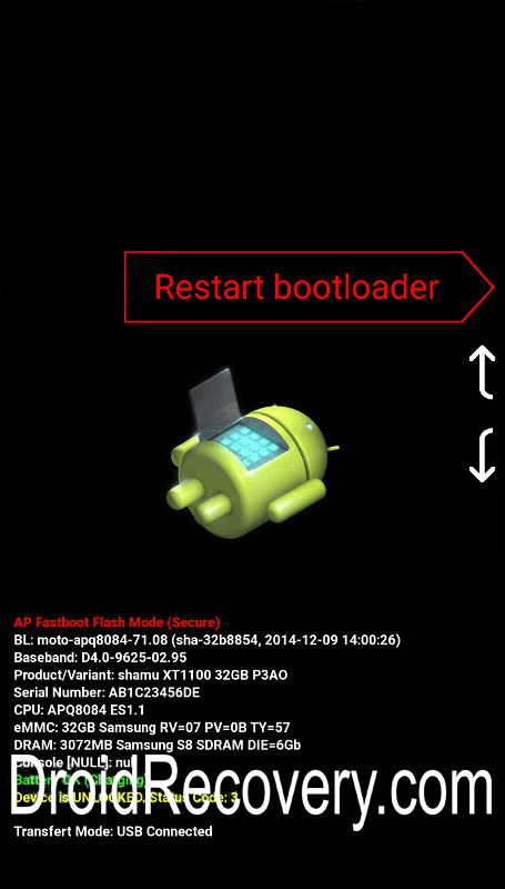 Pixelphone M1 Recovery Mode and Fastboot Mode
