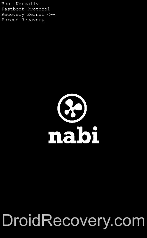 Nabi 2 Nickelodeon Edition Recovery Mode and Fastboot Mode