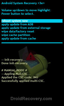 ZTE z995 Overture Recovery Mode and Fastboot Mode